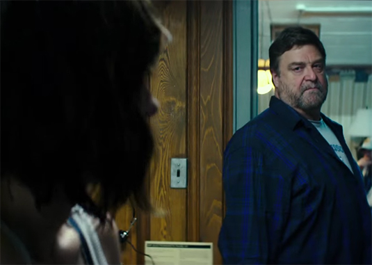 John Goodman's give a terrifying performance. 10 Cloverfield Lane. Image Credit. Paramount.