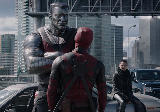 Negasonic Teenage Warhead and Colossus provide the perfect foils for Deadpool. Deadpool. Image Credit: 20th Century Fox.