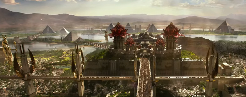All the Pyramids. Gods of Egypt. Image Credit: Lionsgate.