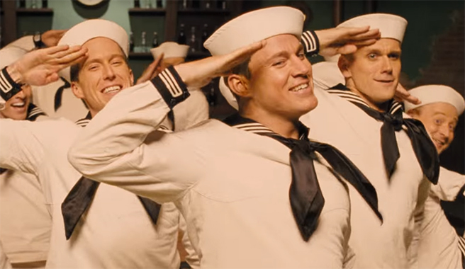 It has some fantastic musical moments. Hail Caesar. Image Credit: Universal.