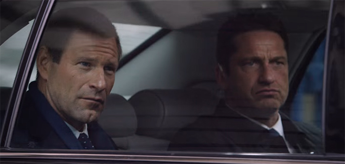 Gerard Butler & Aaron Eckhart make a good team. London Has Fallen. Image Credit: Lionsgate.