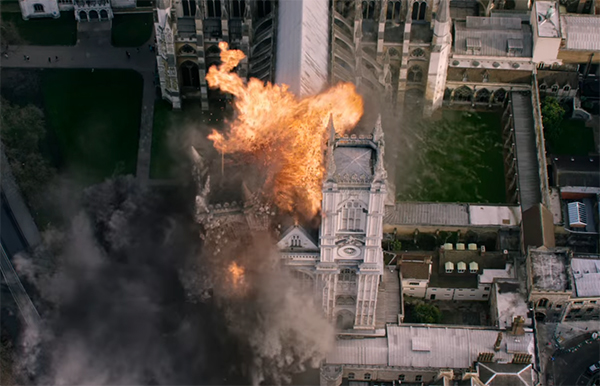 Poor London, always getting attacked in films. London Has Fallen. Image Credit: Lionsgate.
