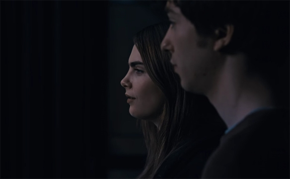 The two leads Nat Wolff & Cara Delevingne work well together
