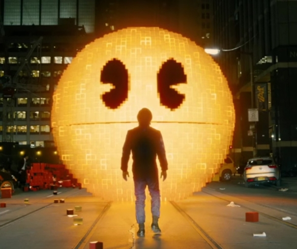 An example of the lazy film writing, Pac-Man is the bad guy, it is like they did not even bother to understand what they were adapting