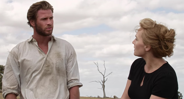Kate Winslet and Liam Hemsworth have a greatKate Winslet and Liam Hemsworth have a great rapport rapoort