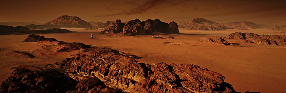 The Martian is visually stunning