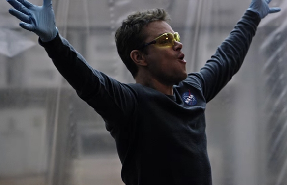 This is definitely Matt Damon's move to shine in and he does