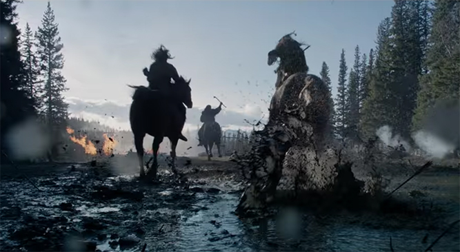The cinematography in this film is outstanding. The Revenant. Image Credit: 20th Century Fox.