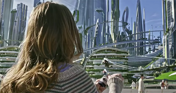 Tomorrowland's visuals is where it shines