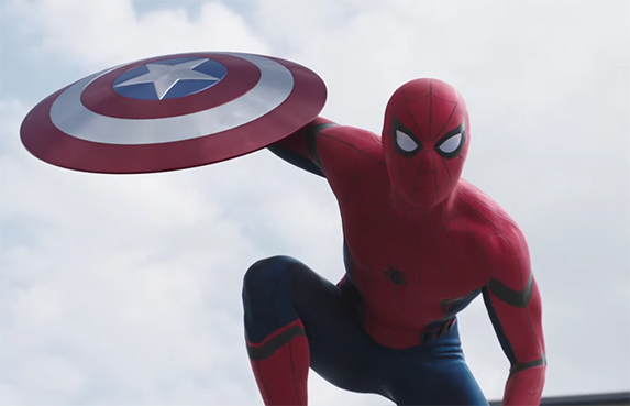 Tom Holland is a delight as the new Spider-man. Captain America: Civil War. Image Credit: Marvel/Disney.