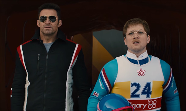 Taron Egerton & Hugh Jackman make a great team. Eddie the Eagle. Image Credit: 20th Century Fox.