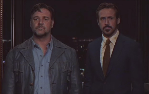 Where Nice Guys works best is in the interplay between Russel Crowe & Ryan Gosling. The Nice Guys. Image Credit: Warner Bros.