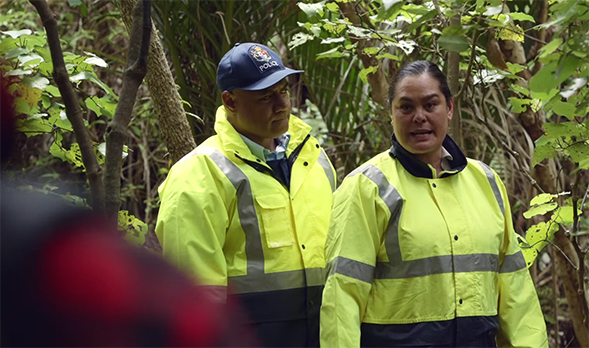 Rachel House as Paula is an amazing foil for Ricky and Hec. Hunt for the Wilderpeople. Image Credit: Madman.