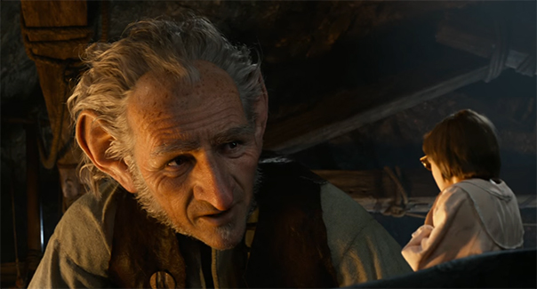 The connection between Mark Rylance and Ruby Barnhill is what makes this film work. The BFG. Image Credit: Disney.