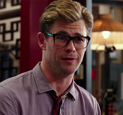 Chris Hemsworth seemed just to be having fun throughout the film. Ghostbusters. Image Credit: Sony.