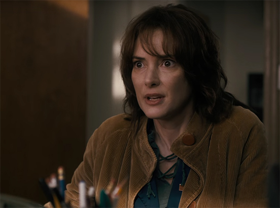 Winona Ryder gives one of the performances of the year. Stranger Things. Image Credit: Netflix.