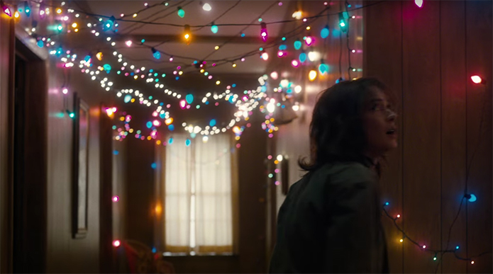 Stranger Things is a constant contrast between colour and darkness. Stranger Things. Image Credit: Netflix.