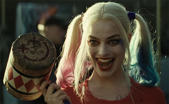 Margot Robbie is one of the better things of this movie playing Harley Quinn. Suicide Squad. Image Credit: Warner Bros.