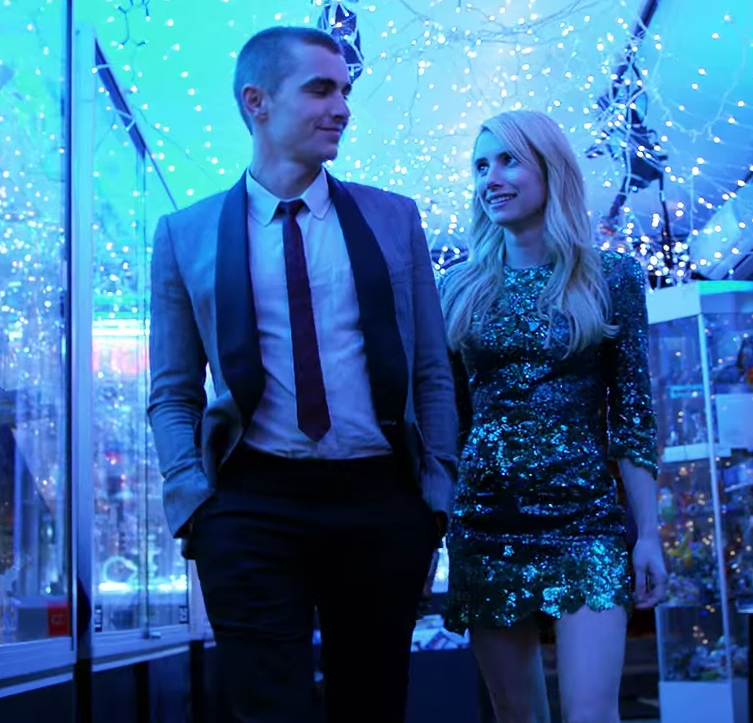 One of the things that makes this film work is the chemistry between Emma Roberts & Dave Franco. Nerve. Image Credit: Lionsgate.