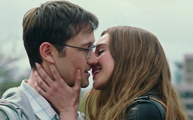 There just isn't a lot of chemistry between Joseph Gordon-Levitt & Shailene Woodley. Snowden. Image Credit: Open Road Films.
