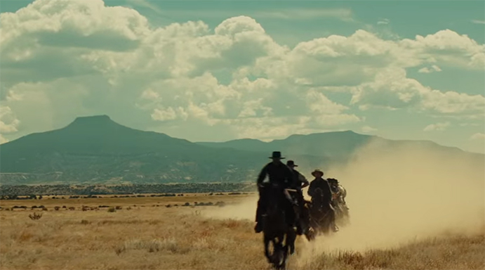Some of the vistas in Magnificent Seven are simply gorgeous. The Magnificent Seven. Image Credit: Sony.