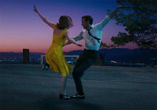 Ryan Gosling and Emma Stone excel here. La La Land. Image Credit: Lionsgate.