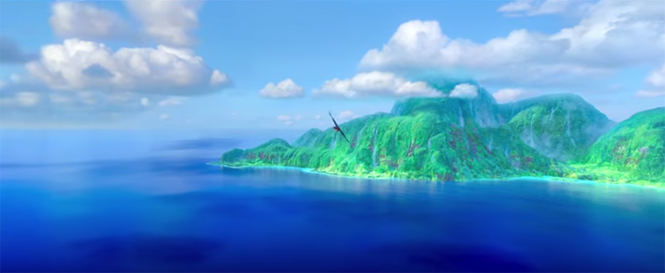 Moana is full of beautiful scenes like this. Moana. Image Credit: Disney.