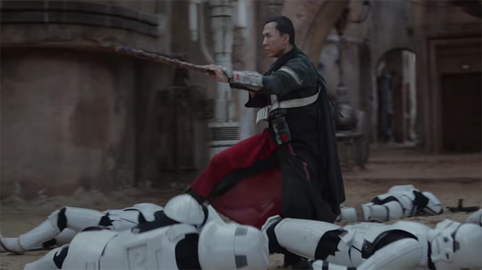 Donnie Yen was perfectly cast as Chirrut Îmwe. Rogue One (Rouge One: A Star Wars Story). Image Credit; Disney/Lucasarts.