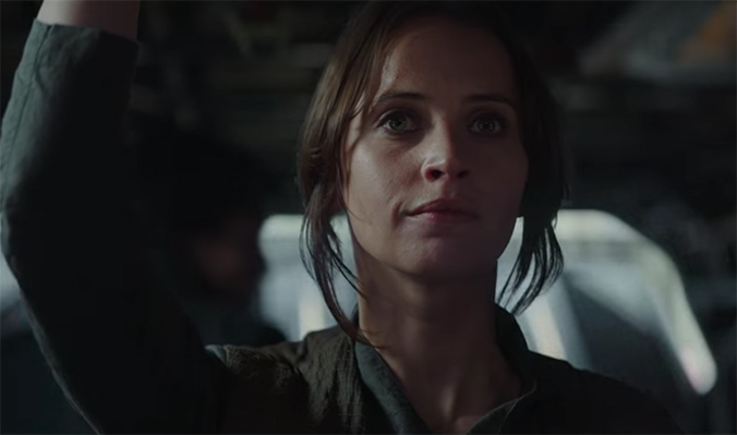 If Felicity Jones had not been amazing as Jyn Erso the movie would have been in real trouble. Rogue One (Rouge One: A Star Wars Story). Image Credit; Disney/Lucasarts.