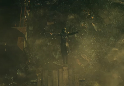 There are a lot of jump teases in this movie. Assassin's Creed. Image Credit: 20th Century Fox.