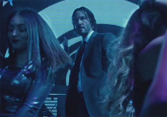 Colour plays a big role in John Wick. John Wick. Image Credit: Lionsgate.