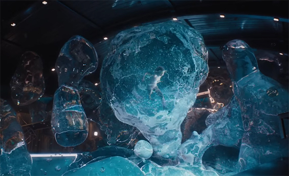 Some of the visual effects are amazing. Passengers. Image Credit: Sony.