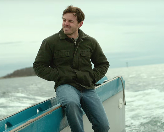 Casey Affleck gives the performance of his career. Manchester by the Sea. Image Credit: Amazon Studios.