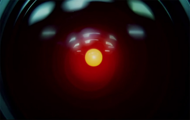 """I am afraid I can't do that Dave"" one of those iconic movie moments. 2001 A Space Odyssey. Image Credit: MGM."