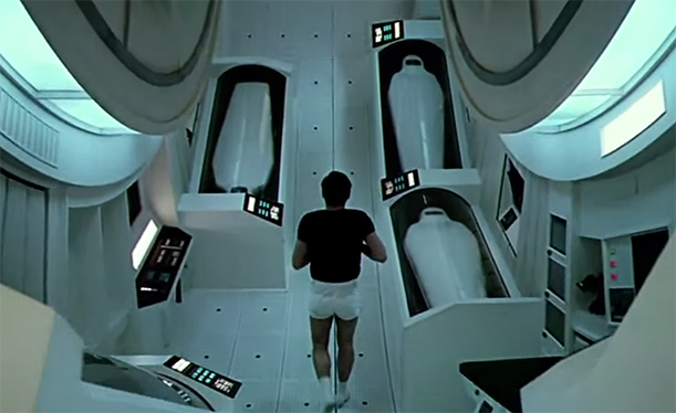 One of the most impressive scenes in cinema. 2001 A Space Odyssey. Image Credit: MGM.