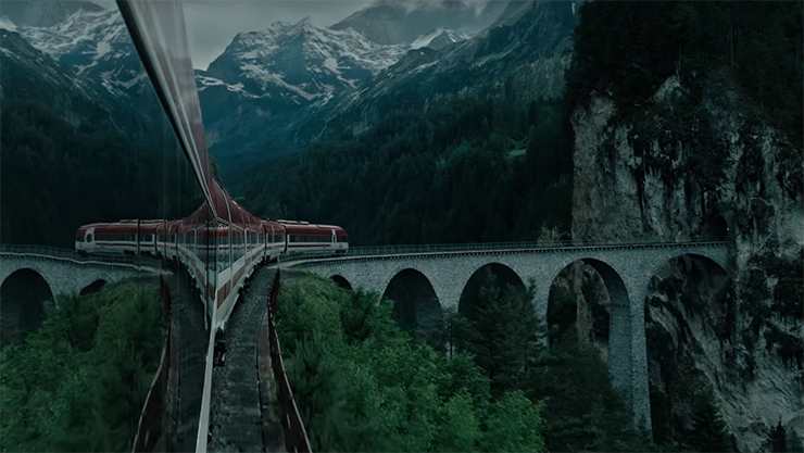 One of the beautiful shots in the film. A Cure for Wellness. Image Credit: 20th Century Fox.