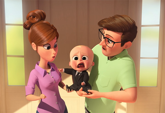 How do you deal with a new baby in the house? Boss Baby. Image Credit: Dreamworks.