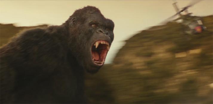 Kong is wonderfully realised. Kong: Skull Island. Image Credit: Warner Bros.