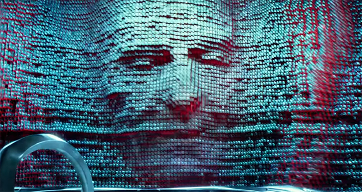 There is a really interesting design with Zordon. Power Rangers. Image Credit: Lionsgate.