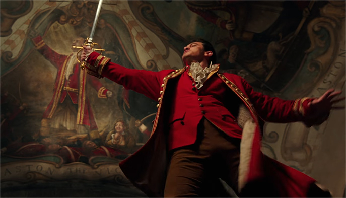 I was surprised just how well Luke Evans went as Gaston. Beauty and the Beast. Image Credit: Disney.