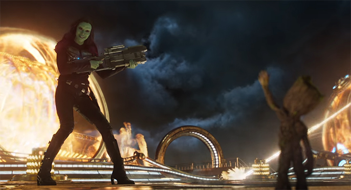 Vol.2 has some stunning visual effects. Guardians of the Galaxy Vol. 2. Image Credit: Marvel/Disney.