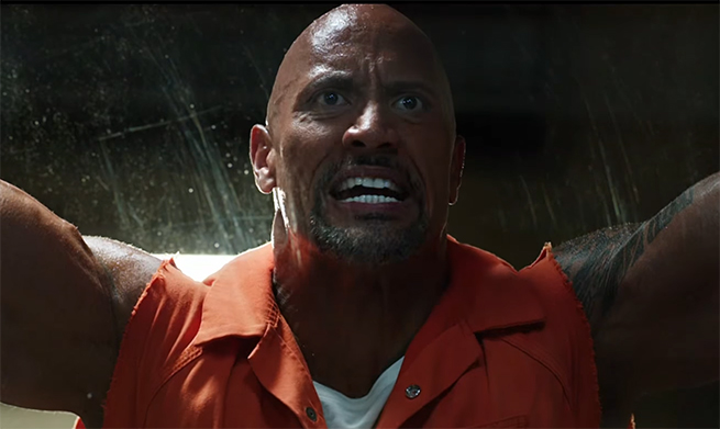 You do not mess with Dwayne Johnson. The Fate of the Furious (Fast and Furious 8). Image Credit: Universal.