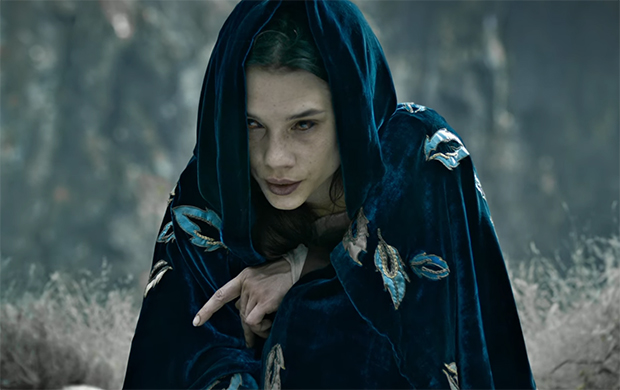 Àstrid Bergès-Frisbey plays 'The Mage' or 'I am an important character from the myth whose identity won't be revealed until the sequel'. King Arthur Legend of the Sword. Image Credit: Warner Bros.