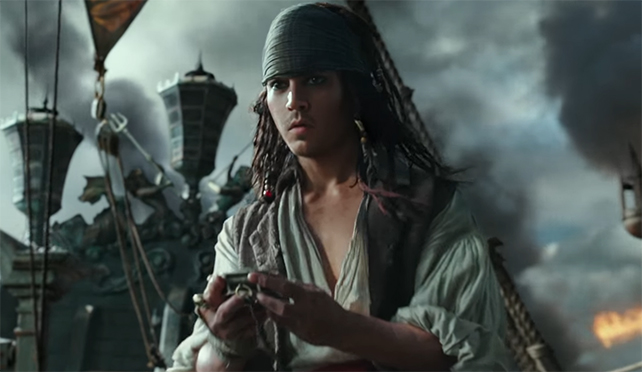 It is getting better but we are still not quite there with CGI de-aging. Pirates of the Caribbean: Dead Men Tell No Tales. Image Credit: Disney.