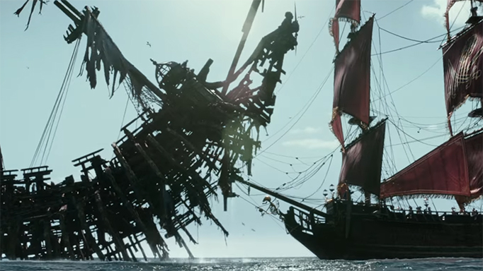 This is a cool moment but the film needed more work on its story to support moments like this. Pirates of the Caribbean: Dead Men Tell No Tales. Image Credit: Disney.