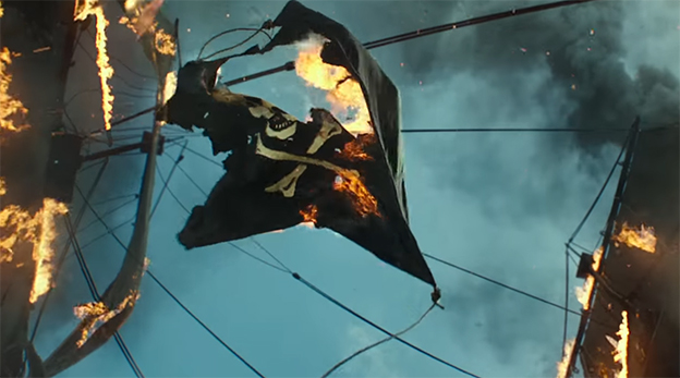 This is more symbolic than they were going for. Pirates of the Caribbean: Dead Men Tell No Tales. Image Credit: Disney.