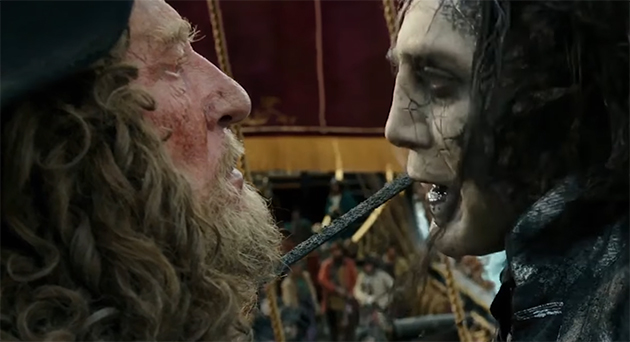 Watching Javier Bardem & Geoffrey Rush play off each other was fun. Pirates of the Caribbean: Dead Men Tell No Tales. Image Credit: Disney.