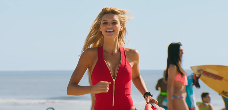 Everyone is giving their all, even if the story is not helping them. Baywatch. Image Credit: Paramount.