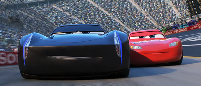 There are no villains, though there are some real asses. Cars 3. Image Credit: Pixar/Disney.