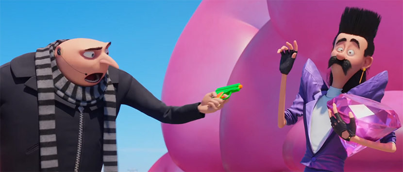 The cast is clearly having a lot of fun with their roles. Despicable Me 3. Image Credit: Illumination.